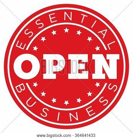 Essential Business Open Decal | Window Sticker For Restaurants & Necessary Industry | Door Sign | Ci