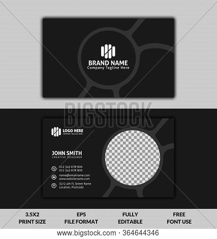 Creative Clean And Corporate Business Card, Black And White Color Business Card Template, Ready To P