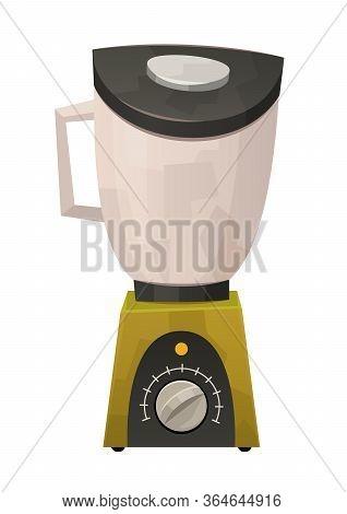 Blender For Kitchen Design Isolated On White Background Vector
