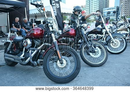 Pasig, Ph - March 9 -harley Davidson Motorcycle At Ride Ph Motorcycle Show On March 9, 2019 In Pasi