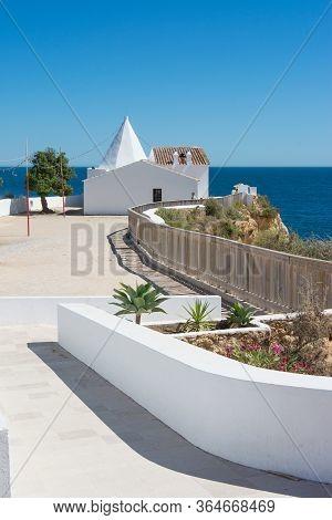 Armacao, Portugal - July 27, 2018: Chapel Of Nossa Senhora Da Rocha, Algarve, Portugal