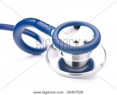Medical stethoscope or phonendoscope isolated on white background cutout