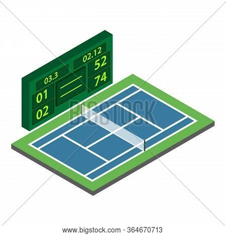 Tennis Championship Icon. Isometric Illustration Of Tennis Championship Vector Icon For Web