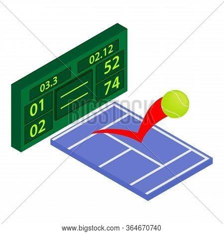 Tennis Tournament Icon. Isometric Illustration Of Tennis Tournament Vector Icon For Web