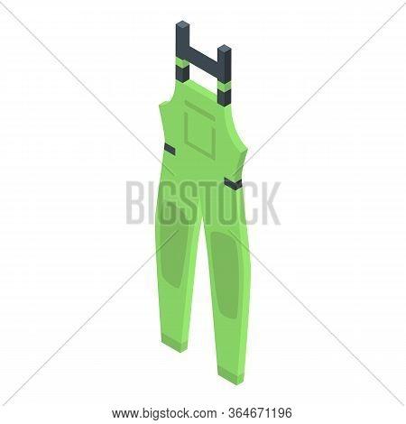 Fisherman Rainy Clothes Icon. Isometric Of Fisherman Rainy Clothes Vector Icon For Web Design Isolat