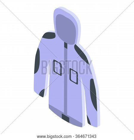 Fisherman Jacket Icon. Isometric Of Fisherman Jacket Vector Icon For Web Design Isolated On White Ba
