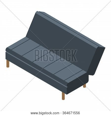 Folding Room Sofa Icon. Isometric Of Folding Room Sofa Vector Icon For Web Design Isolated On White