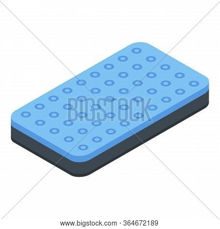 Bed Inflatable Mattress Icon. Isometric Of Bed Inflatable Mattress Vector Icon For Web Design Isolat