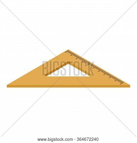 Angle Ruler Icon. Isometric Of Angle Ruler Vector Icon For Web Design Isolated On White Background