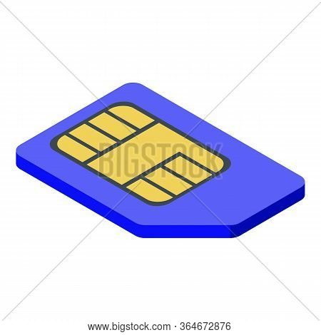 Gsm Sim Card Icon. Isometric Of Gsm Sim Card Vector Icon For Web Design Isolated On White Background