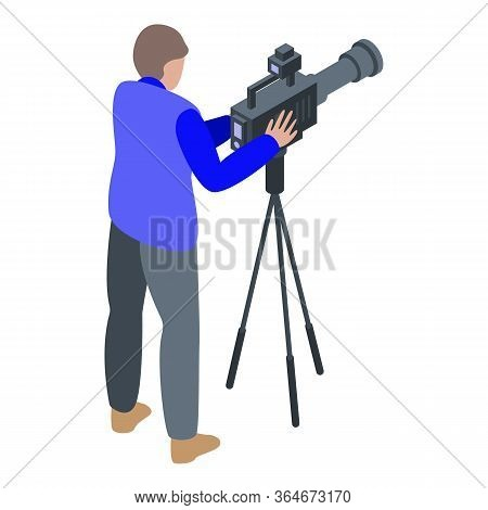 Cameraman Capture Icon. Isometric Of Cameraman Capture Vector Icon For Web Design Isolated On White