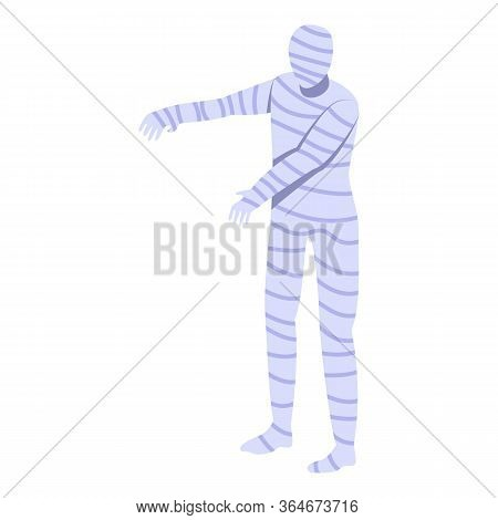 Scary Mummy Icon. Isometric Of Scary Mummy Vector Icon For Web Design Isolated On White Background