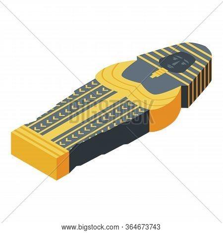 Pharaoh Mummy Icon. Isometric Of Pharaoh Mummy Vector Icon For Web Design Isolated On White Backgrou