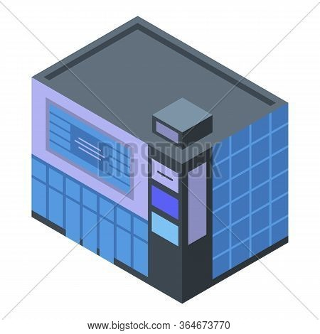 Mall Icon. Isometric Of Mall Vector Icon For Web Design Isolated On White Background