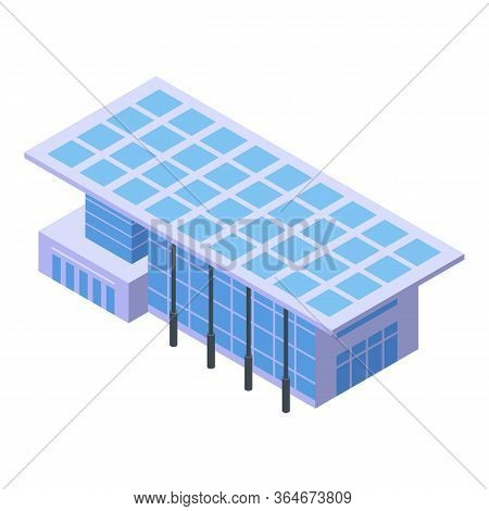 City Mall Building Icon. Isometric Of City Mall Building Vector Icon For Web Design Isolated On Whit