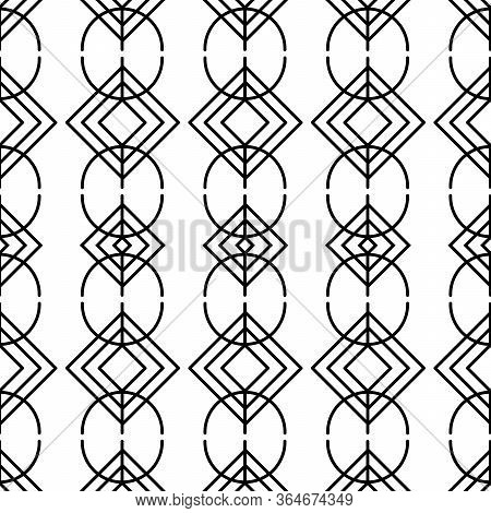 Seamless Pattern With Magical Runic Symbols. Sacred Geometry. Symbols Of The Esoteric Mandala. Occul