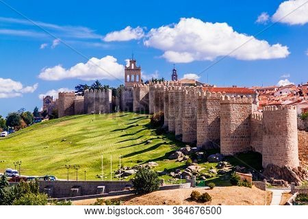 Old Town Of Avila, Spain - A Unesco World Heritage Site