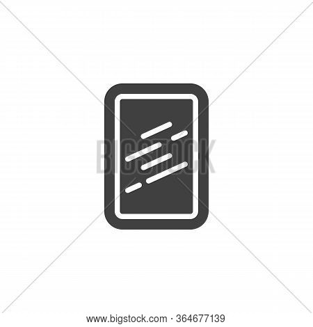 Square Frame Mirror Vector Icon. Filled Flat Sign For Mobile Concept And Web Design. Wall Mirror Wit