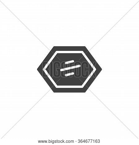Decorative Frame Mirror Vector Icon. Filled Flat Sign For Mobile Concept And Web Design. Wall Mirror