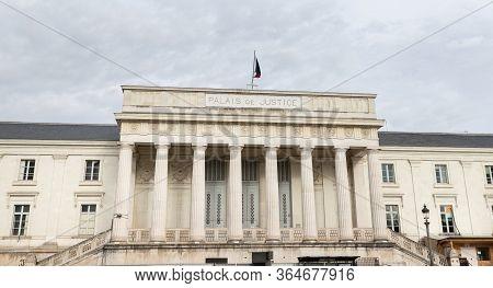 Architectural Detail Of The Palais De Justice Of Tours, France