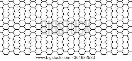 Hexagon Seamless Pattern. Honeycomb Vector Texture. Futuristic Hexagonal Simple Structure. Modern Me