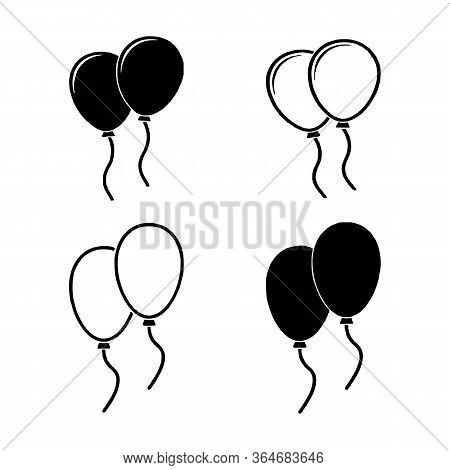 Balloon Icon Set Vector Image, Illustration Vector Design