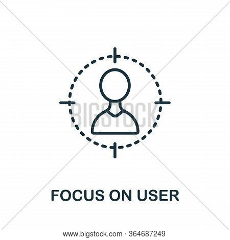 Focus On Yser Icon From Production Management Collection. Simple Line Focus On Yser Icon For Templat