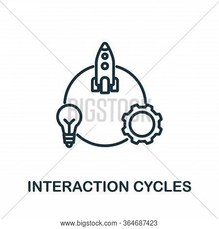 Interaction Cycles Icon From Production Management Collection. Simple Line Interaction Cycles Icon F