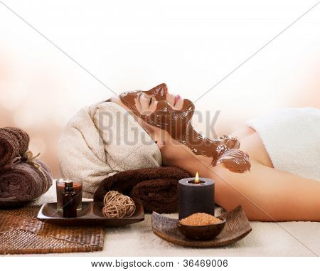 Chocolate Spa Mask. Spa salon