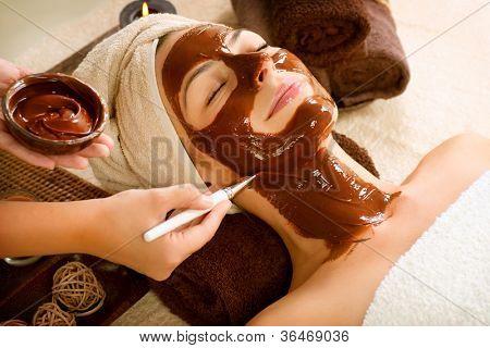 Chocolate Luxury Spa. Facial Mask