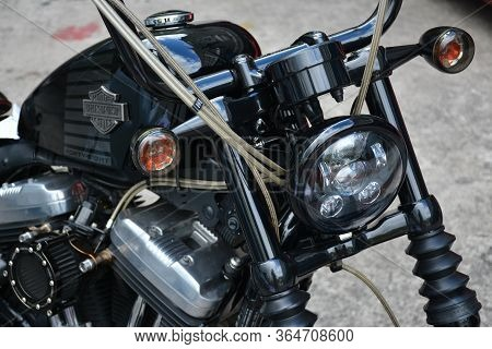 Manila, Ph - November 10 - Harley Davidson Motorcycle At Transknight Transport Show On November 10,