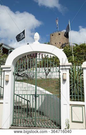 The Entrance To Historic Blackbeard's Castle - The Watchtower Built In 1679 In Charlotte Amalie Town