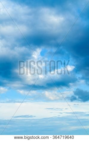 Dramatic blue sky background. Vast sky landscape panoramic scene - colorful sky view in bright tones. Blue sky background. Picturesque colorful sky clouds lit by sunlight. Vast sky landscape panoramic scene, blue sky landscape. Colorful sky view, vast sky