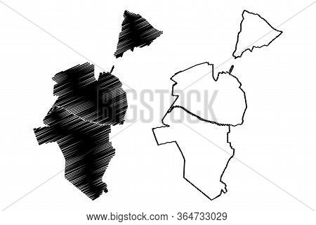 Satu Mare City (republic Of Romania) Map Vector Illustration, Scribble Sketch City Of Satu Mare Map
