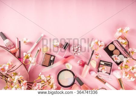 Makeup Products With Spring Flowers