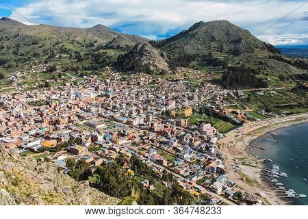 View Of Copacabana From The Top Of Cerro Calvario, Bolivia