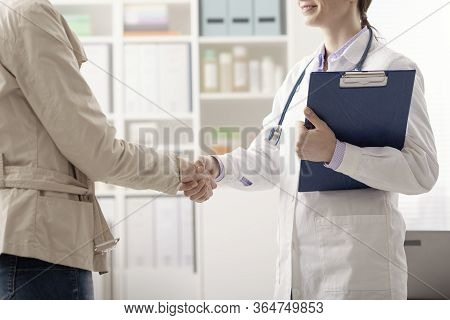 Doctor And Patient Meeting In The Office