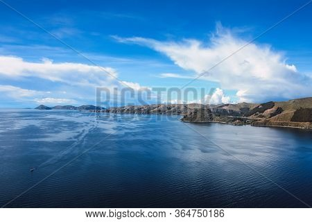 Landscape On The Shores Of Lake Titicaca Near Copacabana, Bolivia