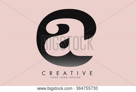 Letters Ac A C Minimalist Logo Design Template Vector Illustration With Pink Background. Simple Ac I