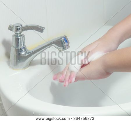 Coronavirus Pandemic Prevention Wash Hands With Soap Warm Water Frequently