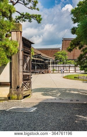 Kyoto, Japan, Asia - September 3, 2019 : Gate At The Imperial Palace Of Kyoto