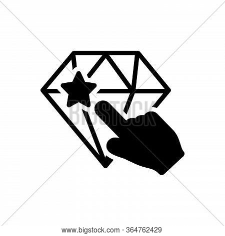 Black Solid Icon For Perfectionist Carve Etch Excision