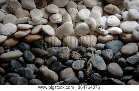 Abstract Two Tone Of Stone For Decoration