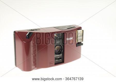 Istanbul, Turkey - July 9, 2014 : Front View Of A Kodak S Series Compact Analogue Photography Machin