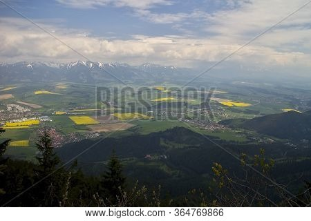 View From The Top Of Poludnice To The Liptov Hollow Basin.
