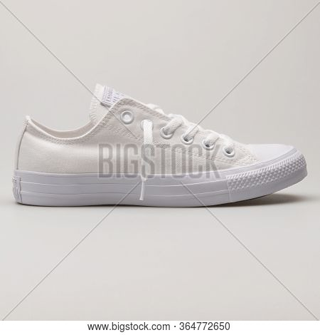 Vienna, Austria - May 27, 2018: Converse Chuck Taylor All Star Sp Ox White Sneaker On White Backgrou
