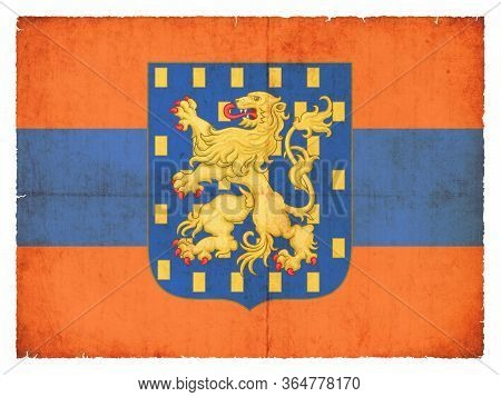 National Flag Of The Historic State Nassau (germany) Created In Grunge Style, Valid From 1806-1866.