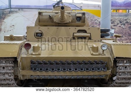 Bovington.dorset.united Kingdom.february 9th 2020.a Panzer 3 Tank Is On Display At The Tank Museum I