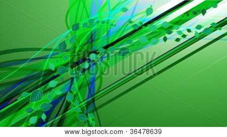 Vector background with leaves