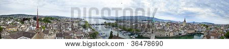 270 degree panorama of Zurich, Switzerland poster